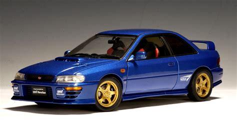 subaru autoart autoart subaru impreza wrx type r blue 78612 in 1 18