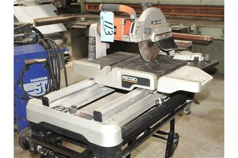 ridgid tile saw wts2000l ridgid model wts2000l 10 quot tile saw s n f8003787 with cart