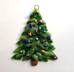 fused glass ornament tree