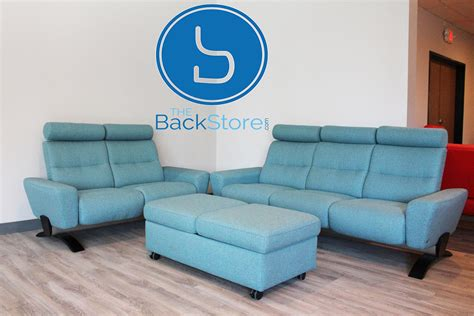 Loveseat With Ottoman by Stressless You Sofa Loveseat And Ottoman Karma Aqua