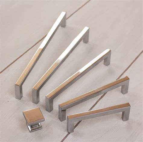 Contemporary Cabinet Handles - contemporary square cabinet pull cabinet hardware