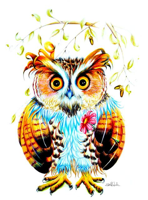 the most beautiful owl painting by isabel salvador