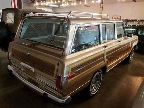 1989 jeep wagoneer limited 1989 jeep grand wagoneer limited 4x4 145123 miles sand