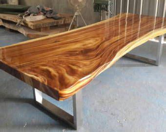 edge dining table reclaimed acacia wood solid slab