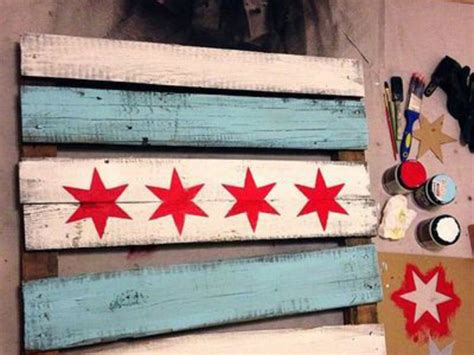 woodworking classes chicago rustic chicago flag dabble