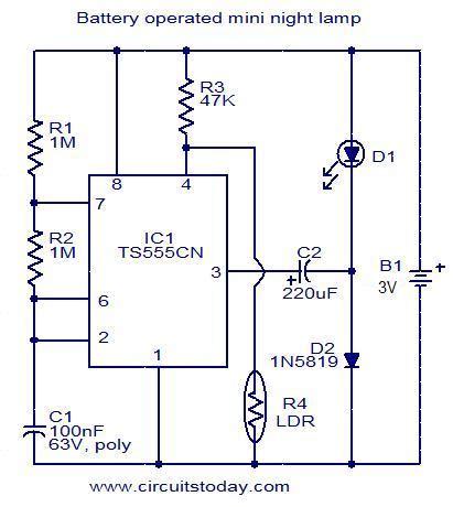 Mini Light Lamp Battery Operated Electronic Circuit
