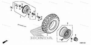 Honda Atv 2012 Oem Parts Diagram For Front Wheel