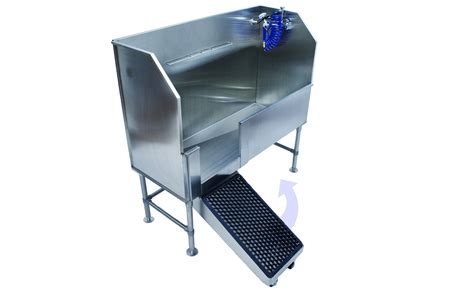 dog washing sink stainless back saving dog wash tubs a major step up from other