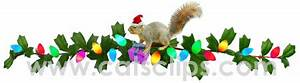 Squirrel with Christmas Lights Animated GIF Border