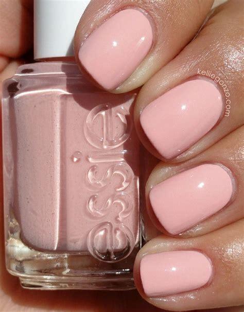 essie    bad pastel pale pink nails nails