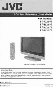 Jvc Lt 26x575 User Manual Tv Lcd Manuals And Guides L0522953