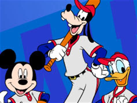 mickey mouse baseball mickey mouse games