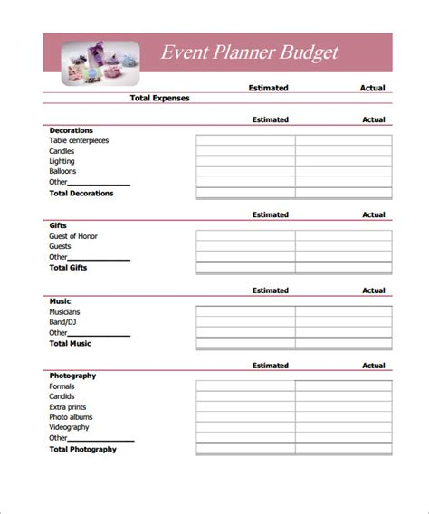 simple budget template 12 budget sles sle templates