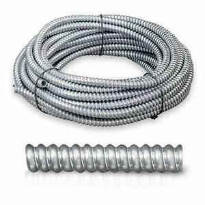 100 U0026 39  Feet Greenfield Flexible Metal Conduit 1  2 U0026quot  Cover