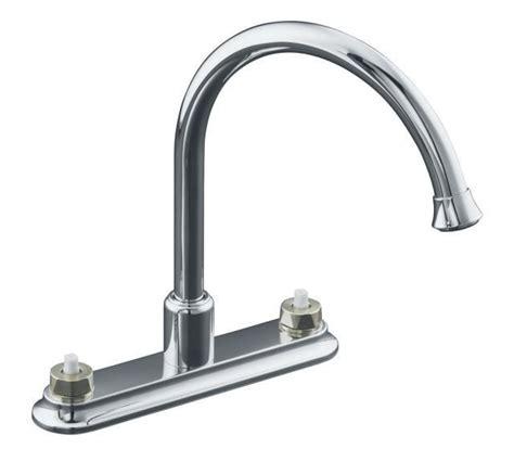 kohler gooseneck kitchen faucet kohler coralais 174 double handle with gooseneck spout without handles kitchen faucet polished