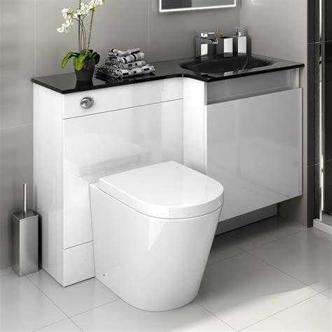 bathroom vanity units 1200 white modern bathroom vanity unit black glass basin