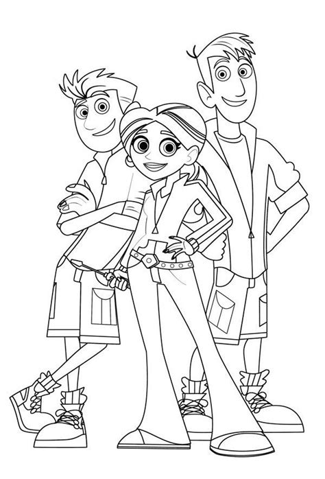 wild kratts coloring pages  printable momjunction wild kratts coloring pages wild