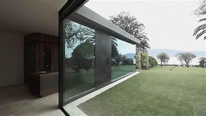 Walls Disappear Glass Villa Windows Sliding Floor