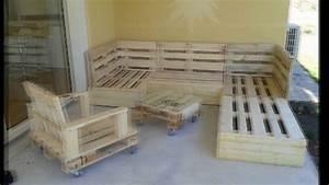 Salon De Jardin En Palette Moderne : copie de salon en palettes youtube ~ Melissatoandfro.com Idées de Décoration