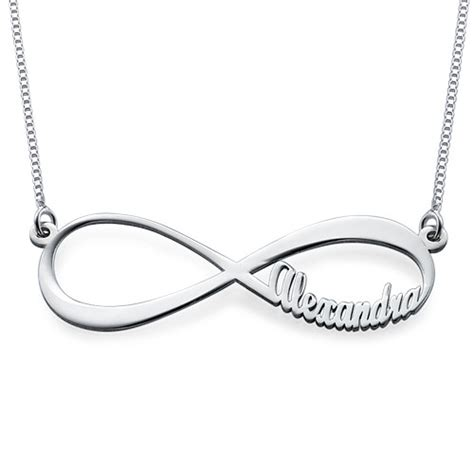 bracelet infini a graver infinity name necklace mynamenecklace