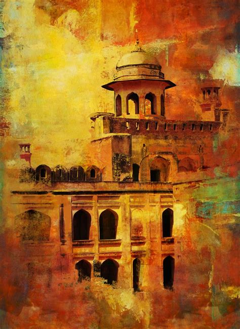 saatchi art lahore fort painting  corporate art task force
