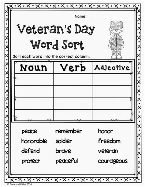veterans day worksheets worksheets for all and