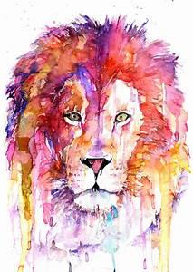 Watercolor Landcolor Skycolor — Original Lion Watercolor ...