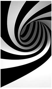 3d black and white swirl   Black and white abstract, Black ...