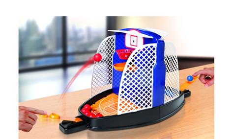 sharper image tabletop shootout hoops basketball game