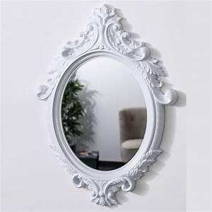 Miroir Blanc Baroque : miroir baroque ovale id es de d coration int rieure french decor ~ Teatrodelosmanantiales.com Idées de Décoration