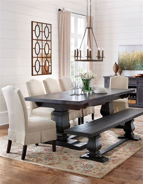 Kitchen Table Upholstered Bench by Dress Up The Dining Table With Skirted Upholstered Dining