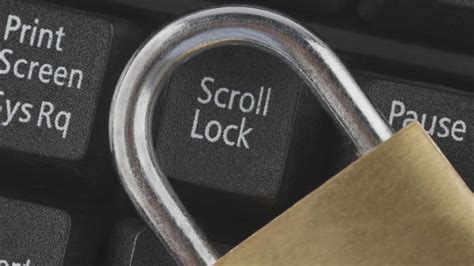 keyboard scroll lock does padlock computer stockunlimited