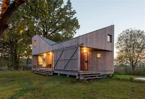 Energy Efficient Small Homes by An Energy Efficient Home With A Folded Roof Asgk Design