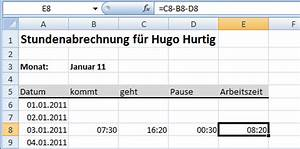Excel Formeln Automatisch Berechnen : stundenabrechnung 1 excel ist sexy ~ Themetempest.com Abrechnung