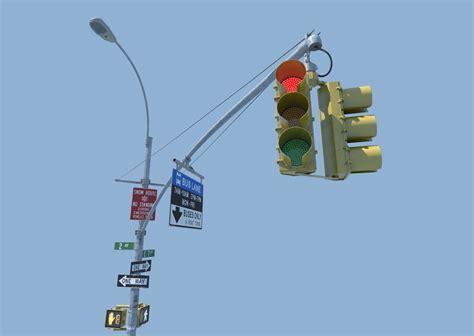3d nyc traffic light signal