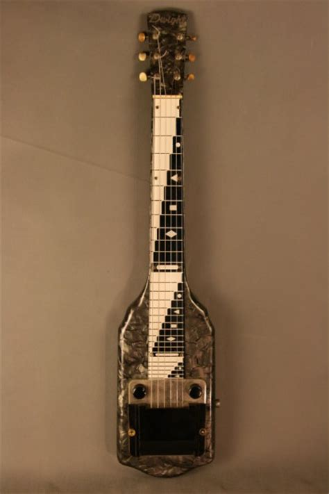 Dwight Supro Valco Mop Lap Steel Guitar Black Mother