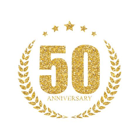 Best 50th Wedding Anniversary Illustrations Royalty Free