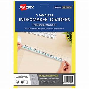 Avery indexmaker dividers a4 5 tab cos complete office for Avery 5 tab labels