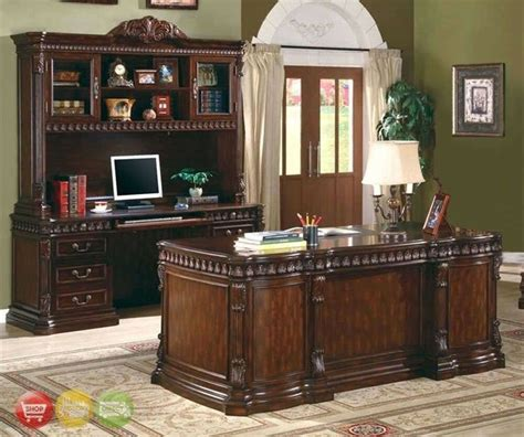 Office Desk With Credenza by Union Hill 3 Executive Desk Set Wood Hutch Office
