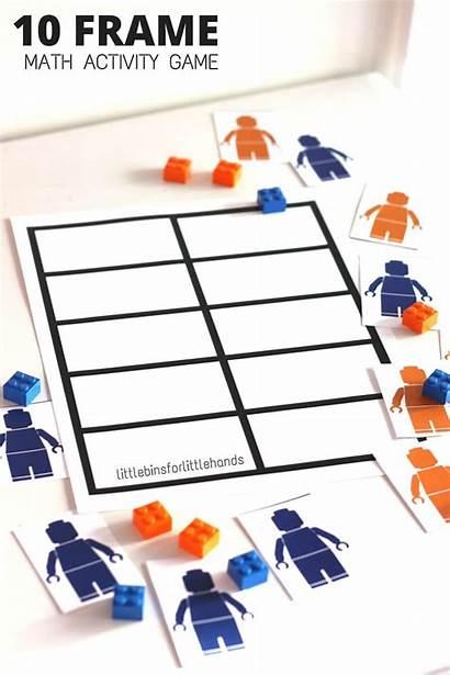 Grid Math Frame Ten Lego Numeracy Activity