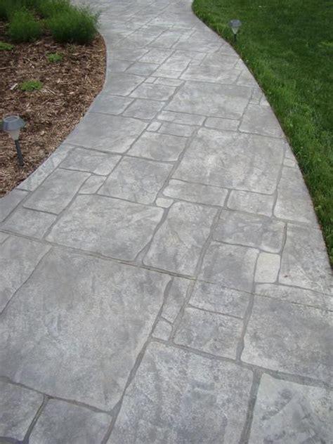slate walkway cost sted concrete walkways sted concrete walkway