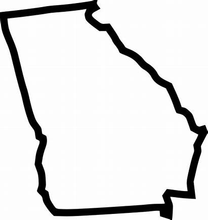 Georgia State Clipart Map Icon Outline Svg