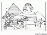 Coloring Egyptian Pyramids Pages Colorkid sketch template