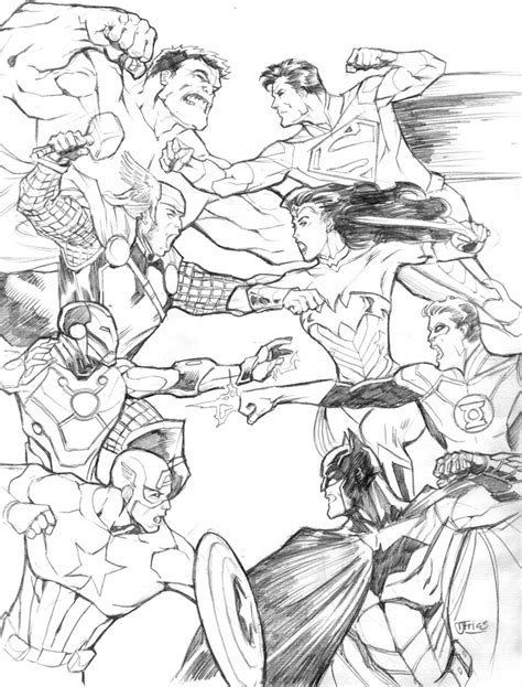 avengers vs justice league by guinnessyde on deviantart