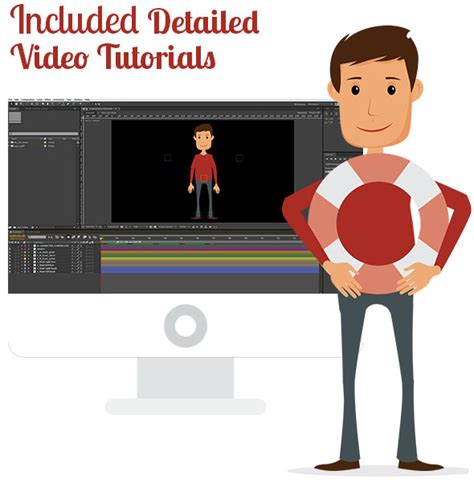 After Effects Product Promo Templates Bobby Character Animation Diy Pack by Videohive Character Animation Composer Explainer Video