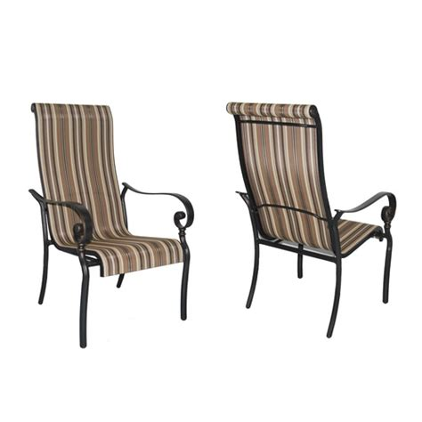 mcnulty extruded aluminum patio dining chairs square
