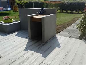Beton Fliesen Terrasse : longrine beton terrasse bois diverses id es ~ Michelbontemps.com Haus und Dekorationen