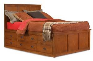Mission Platform Storage Bed. Crafted From Oak With