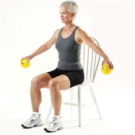 Chair Crunch Bodybuilding by Extremity Theraband Sitting Exercise