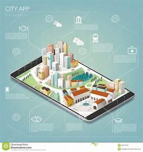 City App Stock Vector Image 45312155